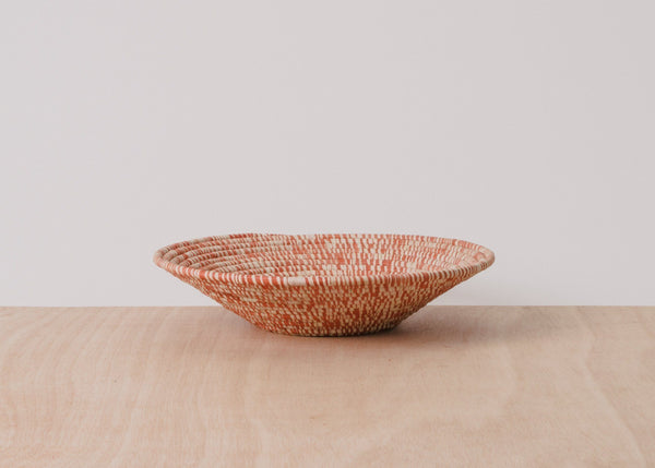 KAZI Heathered Burnt Orange Large Raffia Basket KAZI
