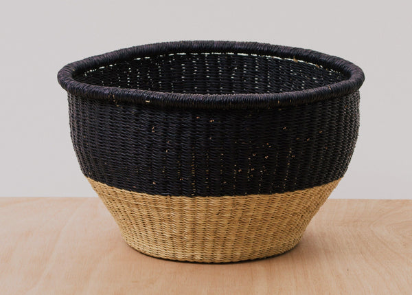 KAZI Large Black Dipped Storage Basket KAZI