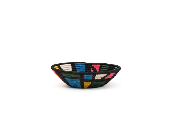 KAZI Large Black + Neon Mosaic Bowl KAZI