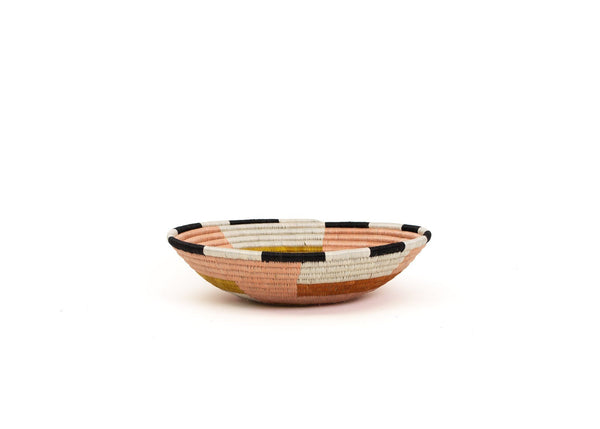KAZI Large Dusty Peach Geo Bowl KAZI