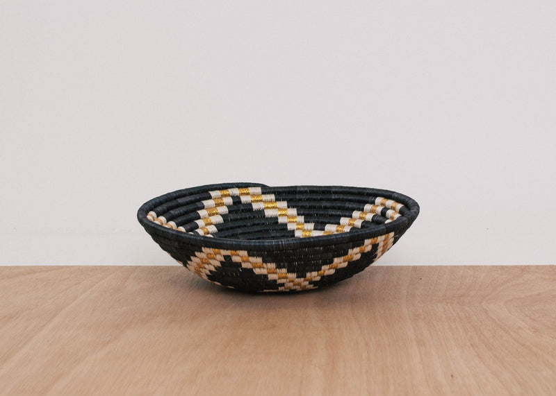 KAZI Large Gilded Black Bowl KAZI