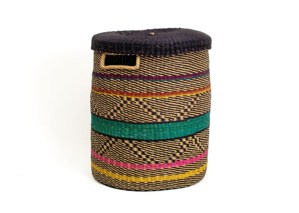 KAZI Multicolor Patterned Grass Hamper Jar Boxes KAZI
