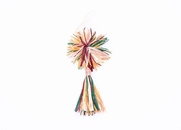 KAZI Multicolor Pom Pom + Tassel Ornament Ornaments KAZI