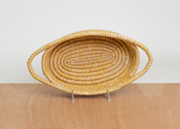 KAZI Mustard Heathered Oval Basket KAZI