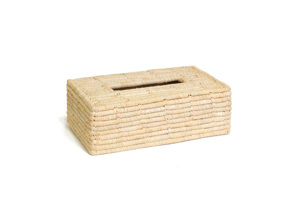 KAZI Rectangular Raffia Tissue Box Cover KAZI