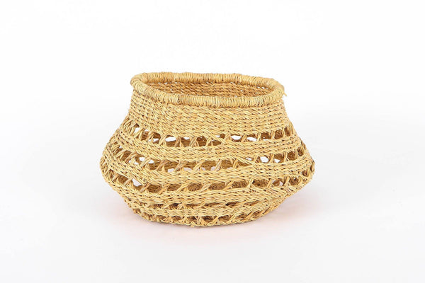 KAZI Round Tapered All Natural Lace Fruit Basket Catch All Baskets KAZI