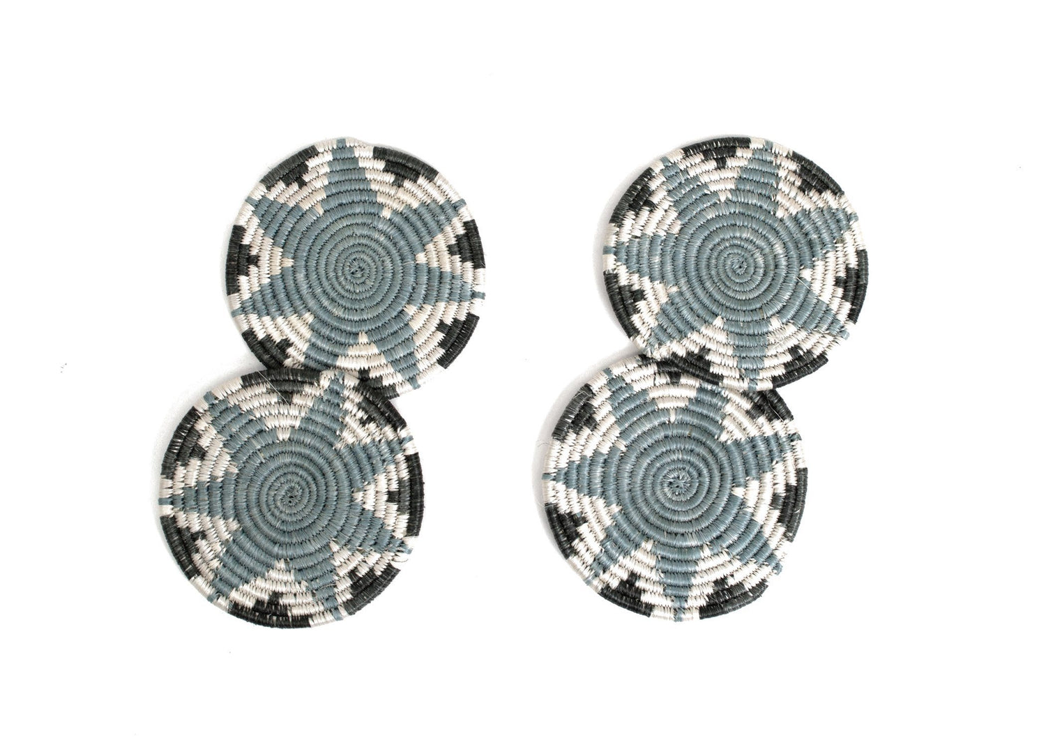 KAZI Silver Blue Hope Coasters KAZI