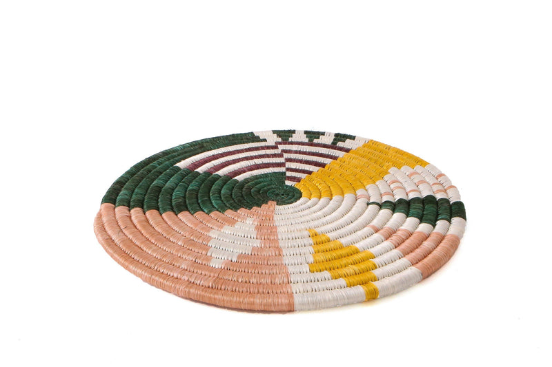 KAZI Small Dusty Peach + Fir Biko Trivet KAZI