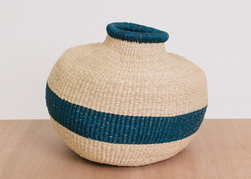 KAZI Striped Azure Short Pot KAZI