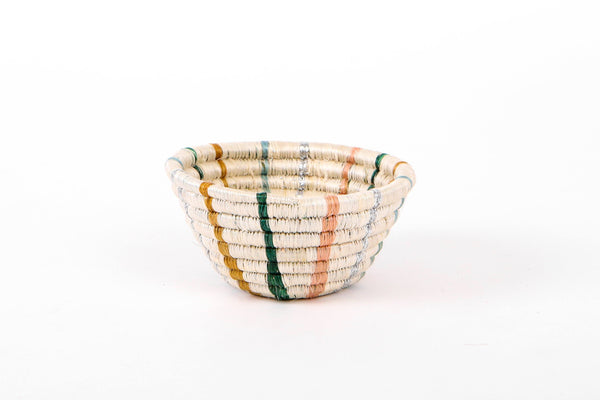 KAZI Tiny Floret Striped Catch All Catch All Baskets KAZI