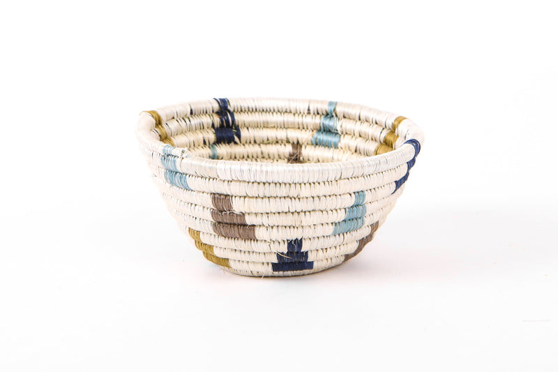 KAZI Tiny Silver Blue Igisozi Catch All Catch All Baskets KAZI