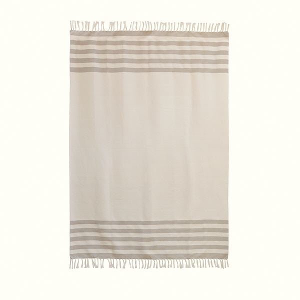 Kiliim BEIGE STRIPES THROW Throws Kiliim