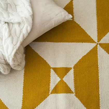 Kiliim Cream Yellow Arrows Rug Rugs Kiliim