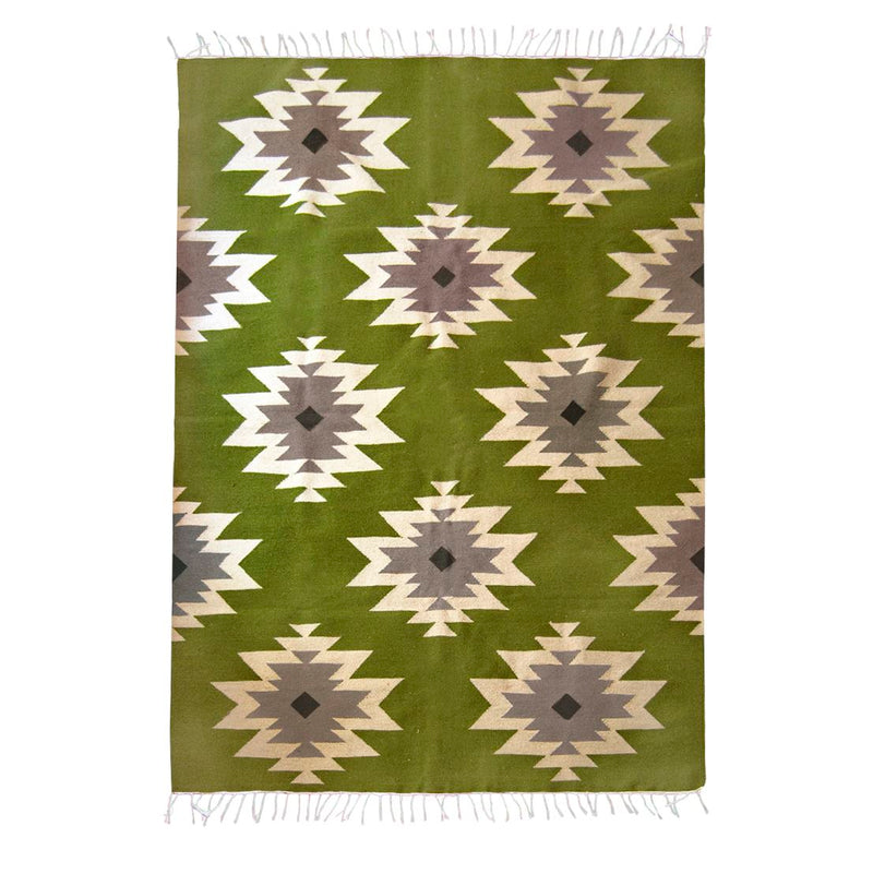 Kiliim Green Medallions Rug Home Decor Made Trade