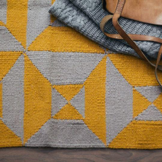 Kiliim Grey Yellow Arrows Rug Rugs Kiliim