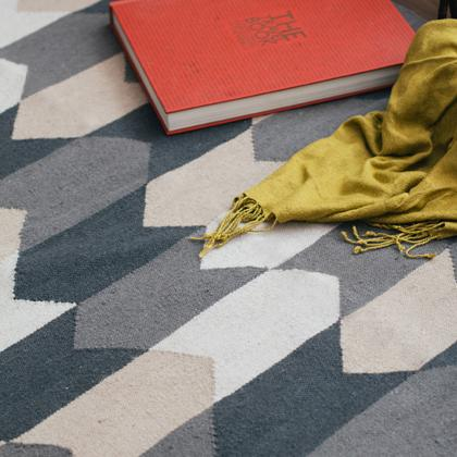 Kiliim NEUTRAL CHEVRON RUG Rugs Kiliim