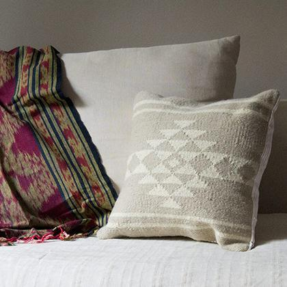Kiliim Neutral Sahara Cushions (Set of 2) Cushions Kiliim