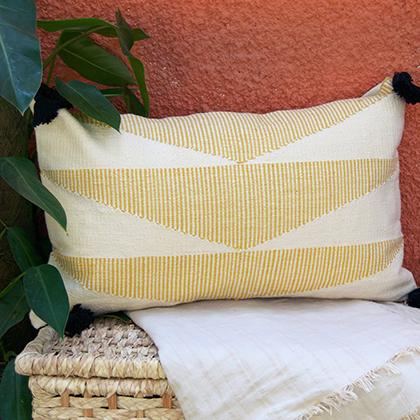 Kiliim YELLOW CASCADE CUSHION Cushions Kiliim