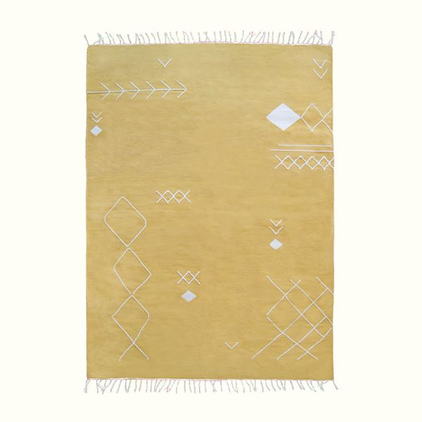 Kiliim YELLOW SCATTERED STITCH RUG Rugs Kiliim
