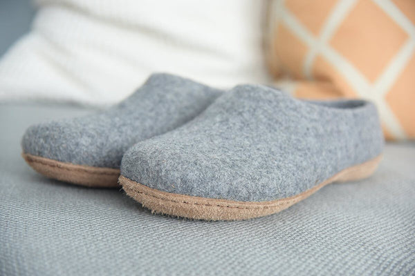 Kyrgies Kyrgies All Natural Molded Sole - High Back - Gray Womens Natural Soles Kyrgies