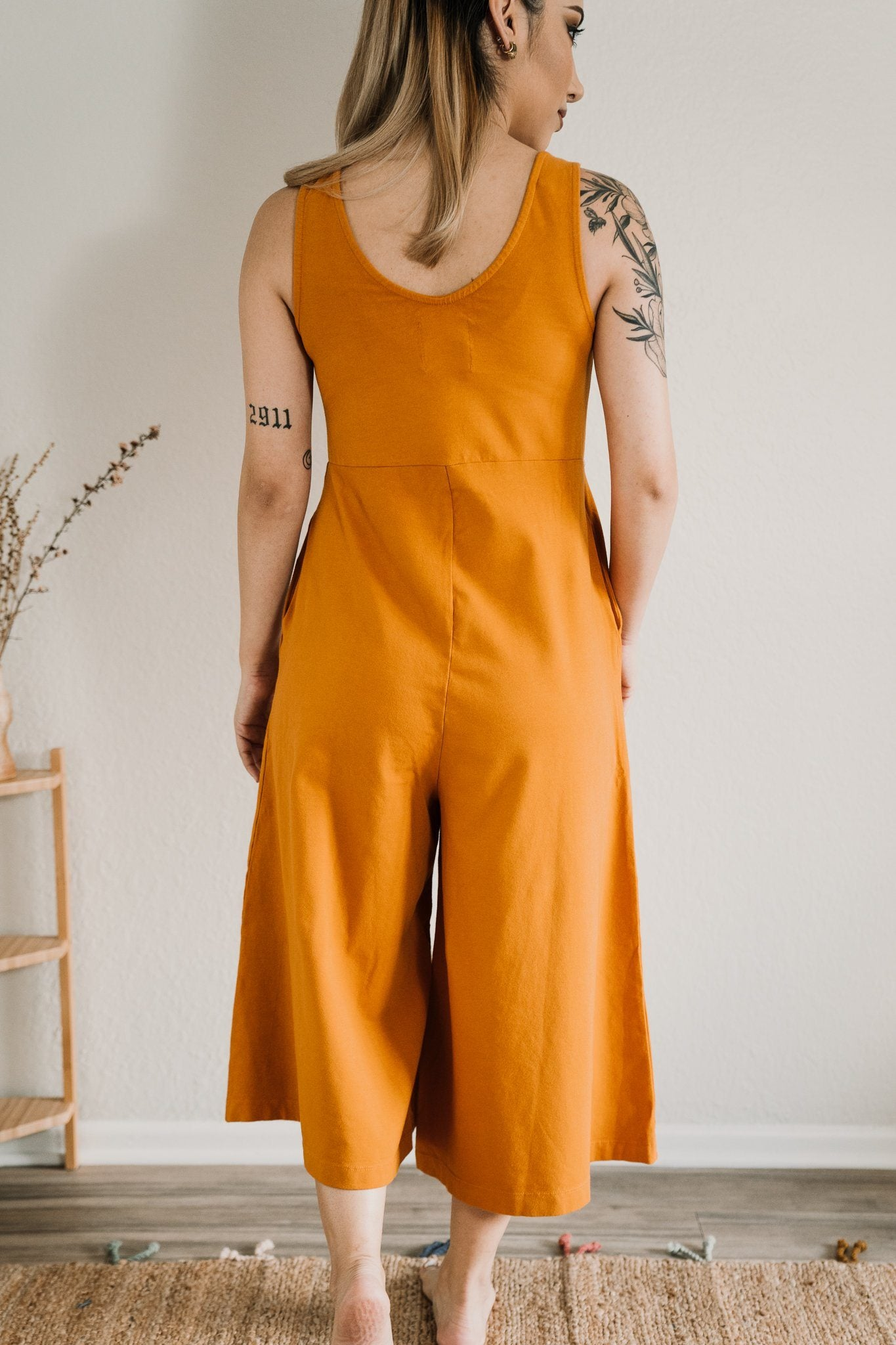 Mien Lakeside Wide Leg Organic Jumpsuit Turmeric Made Trade