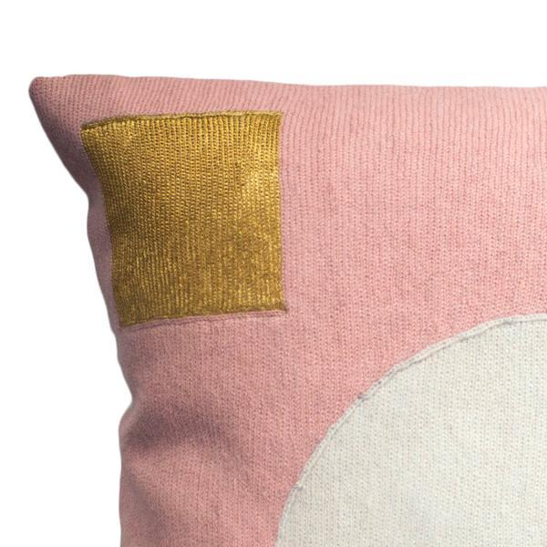 Leah Singh Daphne Circle Pillow - Gold Home Decor Leah Singh