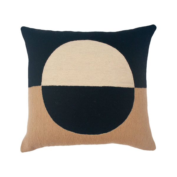 Leah Singh MARIANNE CIRCLE PILLOW - BLACK Pillow Leah Singh