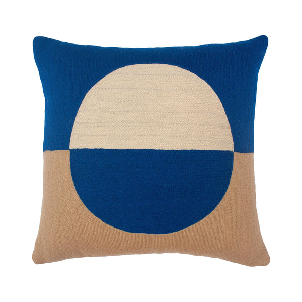 Leah Singh MARIANNE CIRCLE PILLOW - BLUE Pillow Leah Singh