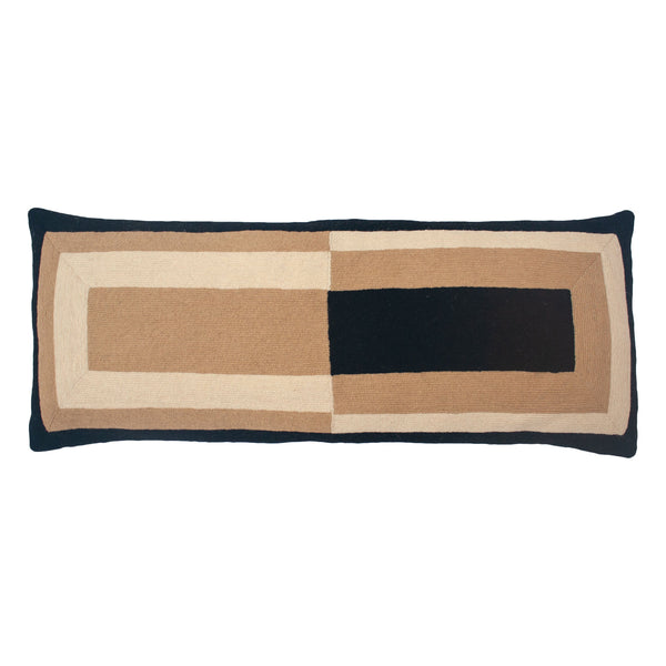 Leah Singh MARIANNE RECTANGLE PILLOW - BLACK Pillow Leah Singh