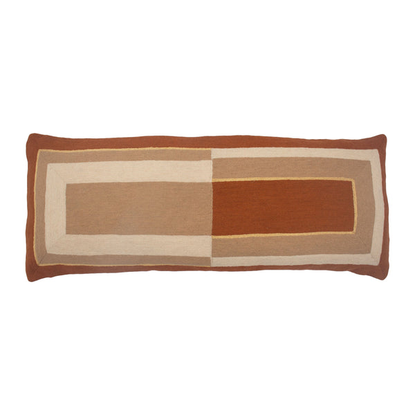 Leah Singh MARIANNE RECTANGLE PILLOW - OCHRE Pillow Leah Singh