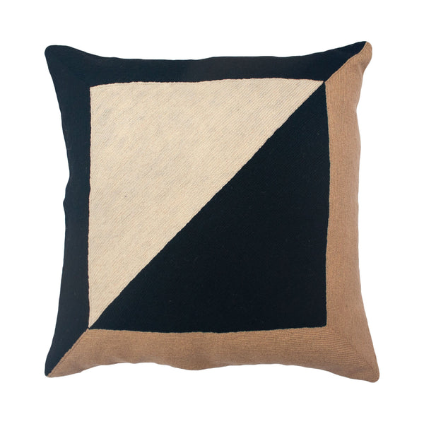 Leah Singh MARIANNE SQUARE PILLOW - BLACK Pillow Leah Singh