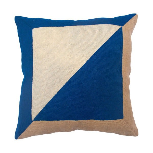 Leah Singh MARIANNE SQUARE PILLOW - BLUE Pillow Leah Singh