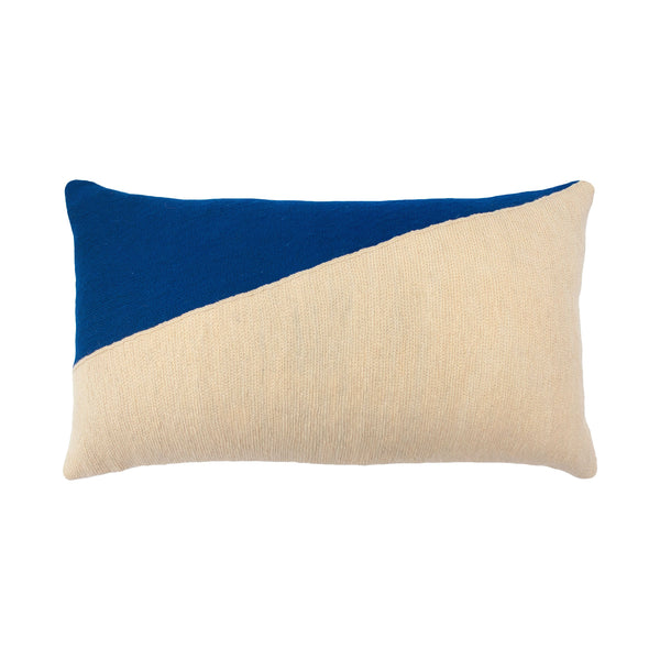 Leah Singh MARIANNE TRIANGLE PILLOW - BLUE Pillow Leah Singh