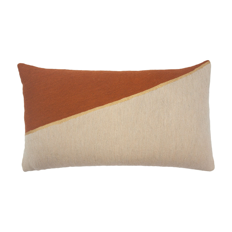 Leah Singh MARIANNE TRIANGLE PILLOW - OCHRE Pillow Leah Singh