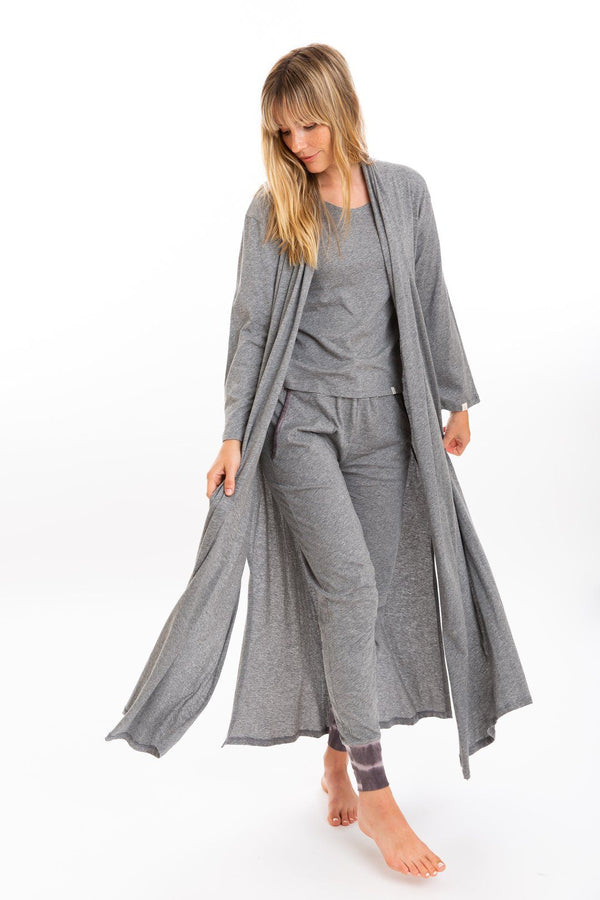 Leena & Lu Cardigan Robe - Heather Gray CARDIGAN Leena & Lu