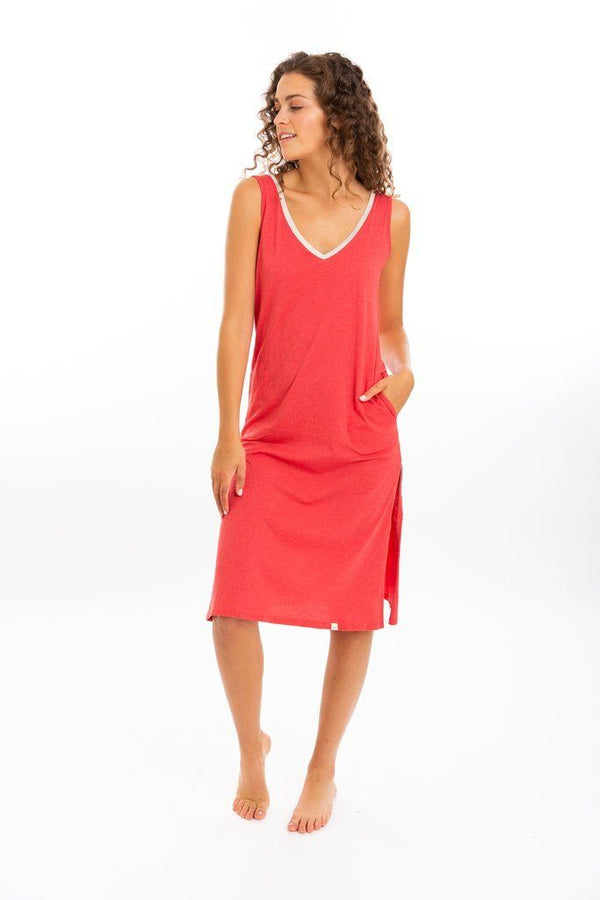 Leena & Lu Lima Long Dress - Coral DRESS Leena & Lu