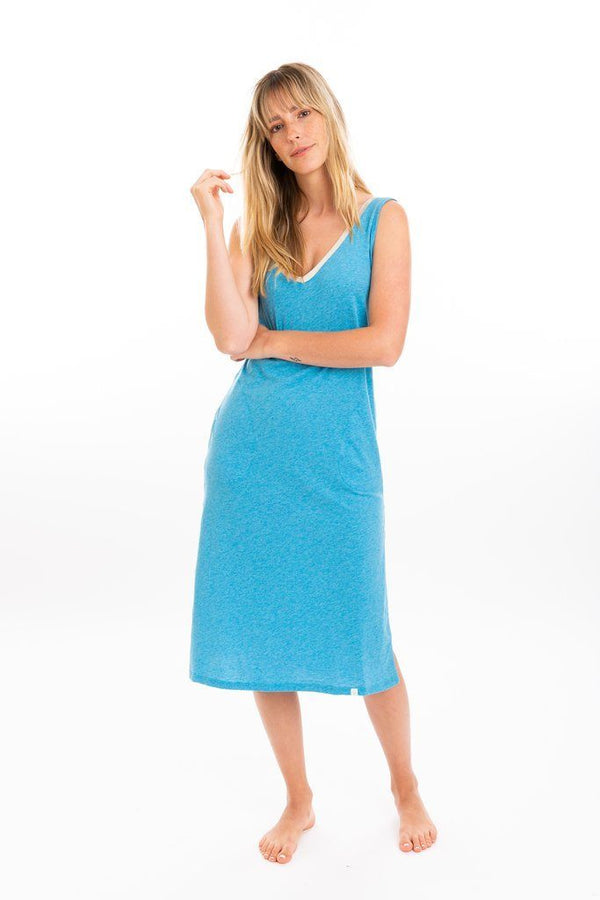 Leena & Lu Lima Long Dress - Turquoise DRESS Leena & Lu