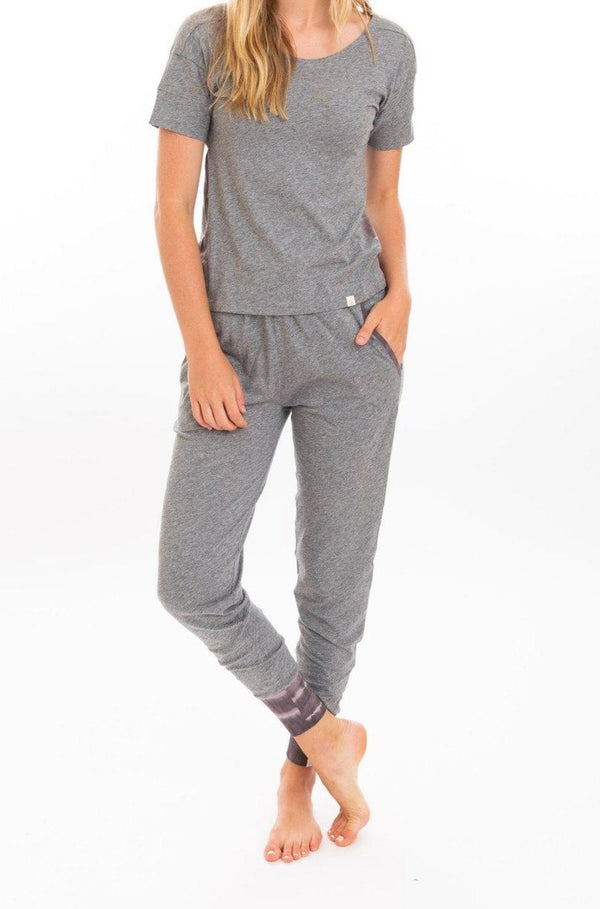 Leena & Lu Organic Pima Jogger - Heather Gray PANTS Leena & Lu