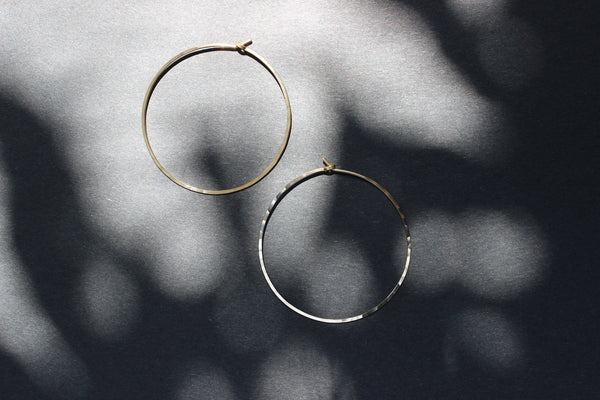 L.Greenwalt Jewelry Gold Hoops, 14K Gold Fill, L.Greenwalt Jewelry, Loop Jewelry, Sterling Silver, Large, Hoop, Earrings, Hoops, Minimalist Jewelry, Statement Hoop Earrings L.Greenwalt Jewelry