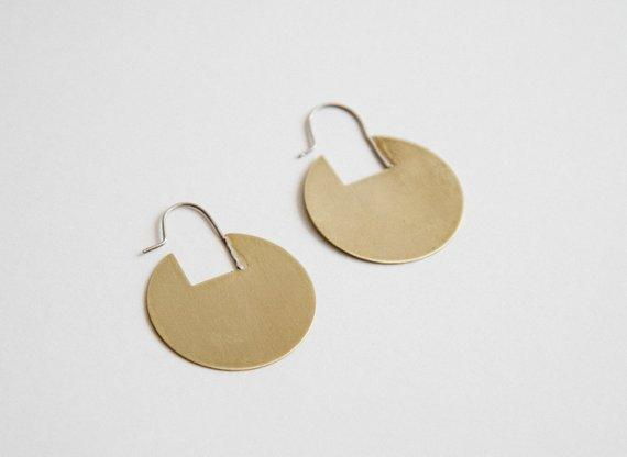 Lumafina Lightweight, Geometric Circle Earrings, Flat Circle Hoops | Rae Hoops Earrings Lumafina