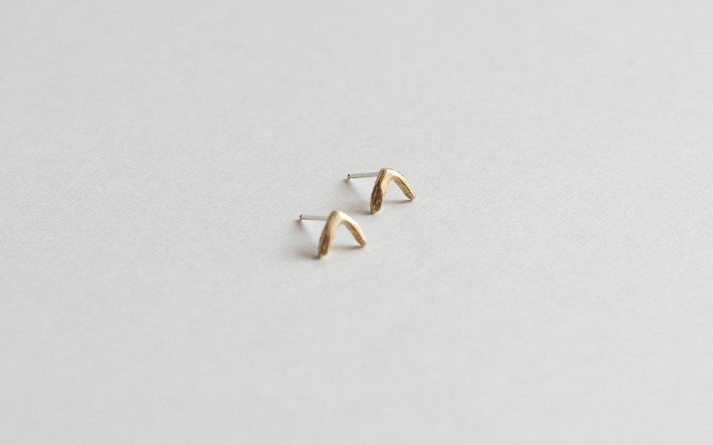Lumafina Minimal Small Stud Earrings, Moon Phase Studs, Lunar Studs, Evil Eye Studs, Crescent Earrings | Cast Studs Earrings Lumafina