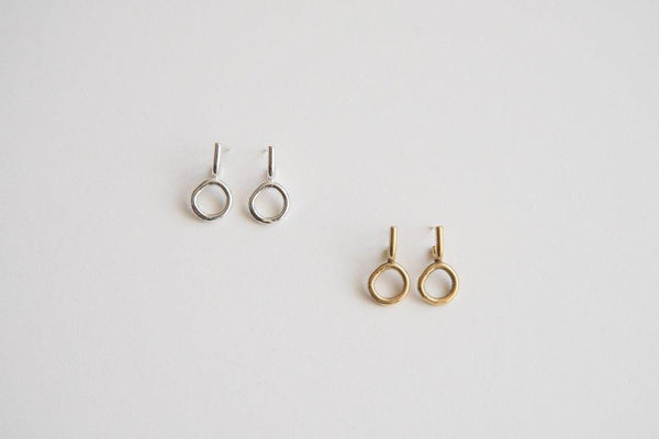 Lumafina Small Circle Studs, Boho Gold Studs, Minimal Stud Hoops | Arnu Small Earrings Earrings Lumafina
