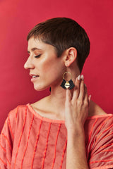Lunasol TEMARA Earrings - small Lunasol Black-5010855657535