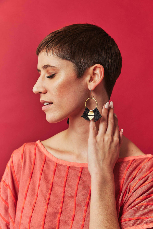 Lunasol TEMARA Earrings - small Lunasol Black