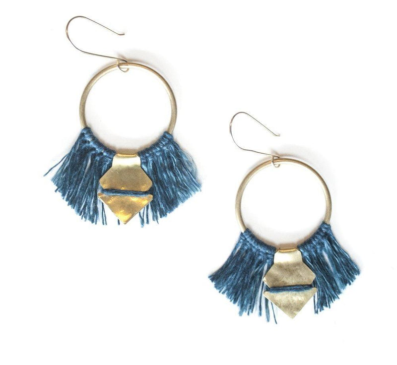 Lunasol TEMARA Earrings - small Lunasol Indigo
