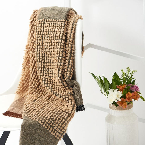 Macaroon Merino Wool Throw Blanket Studio Variously