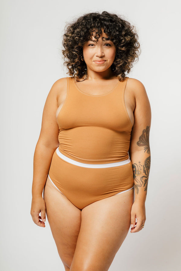 Mary Young High Waist Thong in Caramel Panties Mary Young