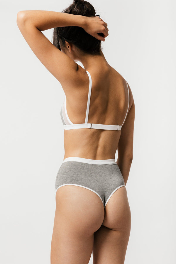 Mary Young High Waist Thong in Grey Panties Mary Young