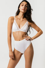 Mary Young High Waist Thong in White Panties Mary Young -14782161911871