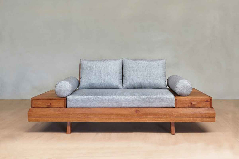 Masaya & Co. Floating Love Seat Love Seat Masaya & Co. Royal Mahogany Silver